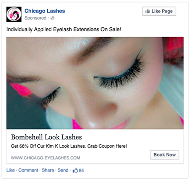 small business Facebook ad examples