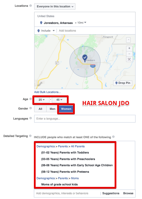 facebook ads for hair salon leads