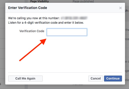 why verify a franchise client's facebook page