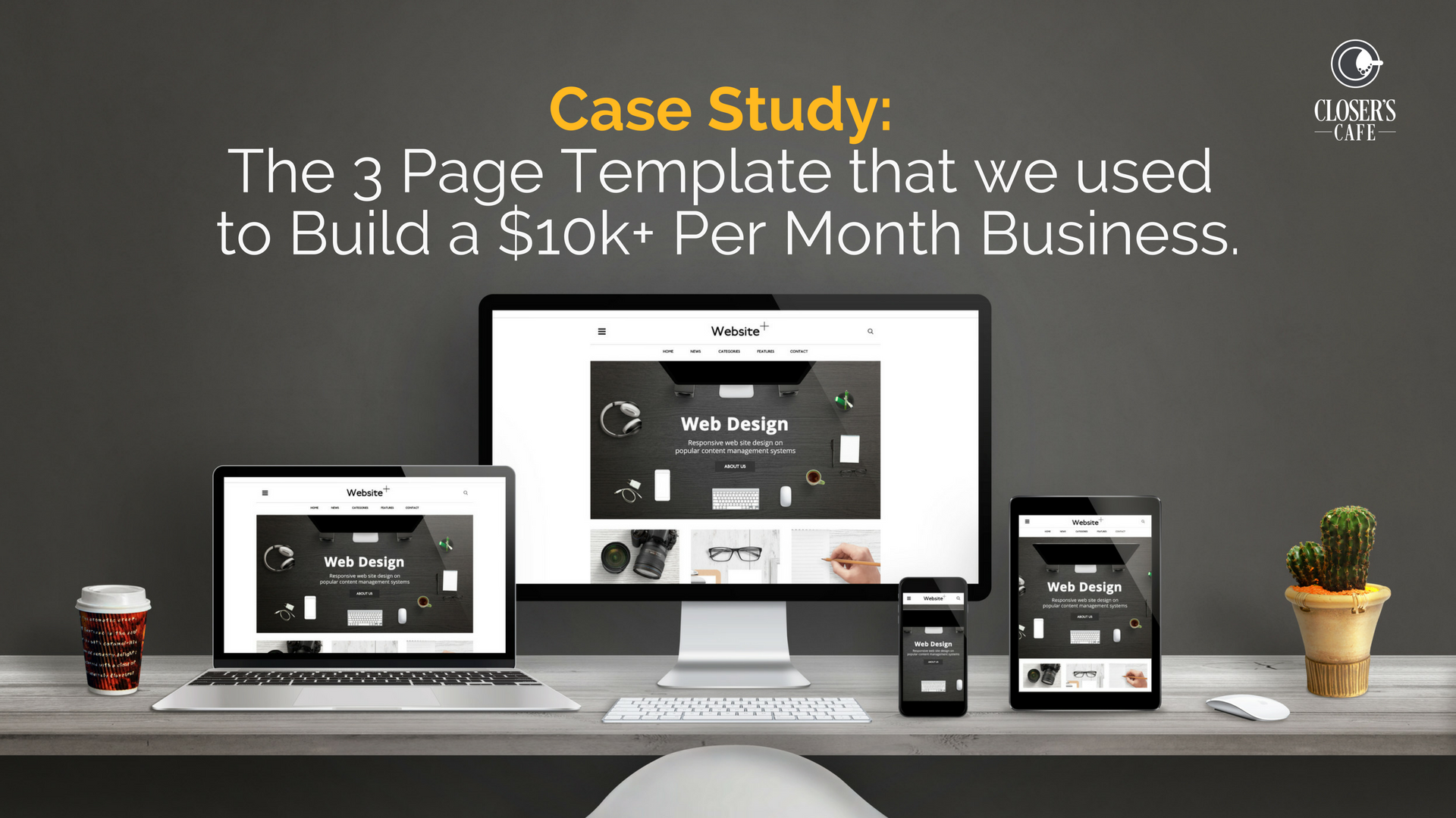 Case Study: The 3 Page Template that we used to Build a $10k+ Per Month Business.